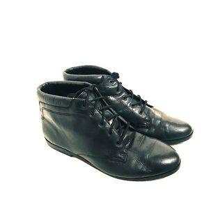 Vintage 80's/90's Soft Black Leather Booties sz7